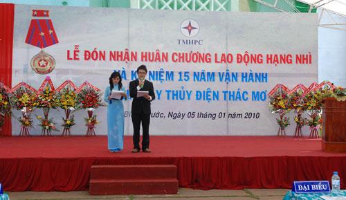 Sự kiện Lễ đón nhận huân chương lao  động và kỷ niệm 15 năm vận hành Nhà máy thủy điện Thác Mơ - Tỉnh Bình  Phước 9