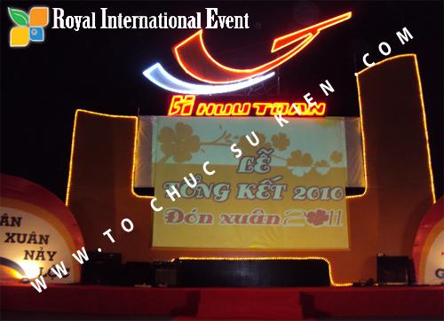 Tổ chức sự kiện Lễ  Tổng Kết năm 2010 và chào đón năm mới 2011 của công ty Cổ Phần Hữu Toàn  01