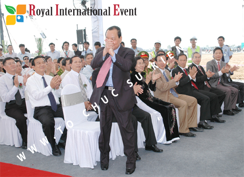 Tổ chức sự kiện Lễ Khởi Công Khu Công Nghiệp Đông Nam 38