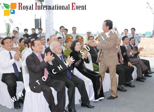 Tổ chức sự kiện Lễ Khởi Công Khu Công Nghiệp Đông Nam 40