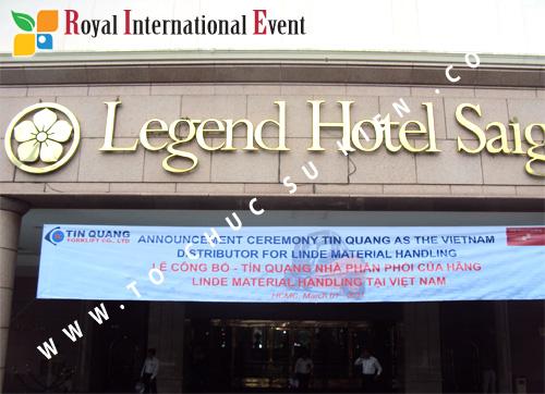 Tổ chức sự kiện Lễ công bố Tín Quang – nhà phân phối của hãng Linde Material Handling tại Việt Nam 1