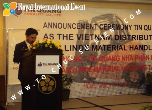 Tổ chức sự kiện Lễ công bố Tín Quang – nhà phân phối của hãng Linde Material Handling tại Việt Nam 23