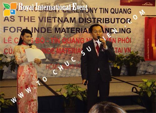 Tổ chức sự kiện Lễ công bố Tín Quang – nhà phân phối của hãng Linde Material Handling tại Việt Nam 24