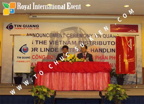 Tổ chức sự kiện Lễ công bố Tín Quang – nhà phân phối của hãng Linde Material Handling tại Việt Nam 29