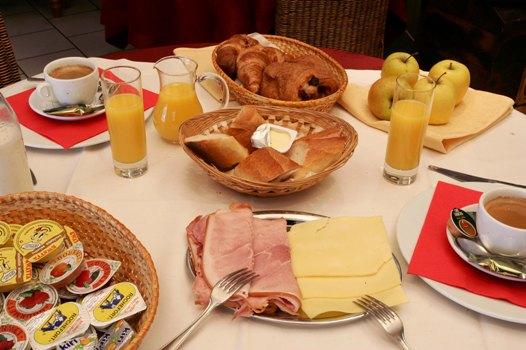 Các bữa ăn: Bữa sáng