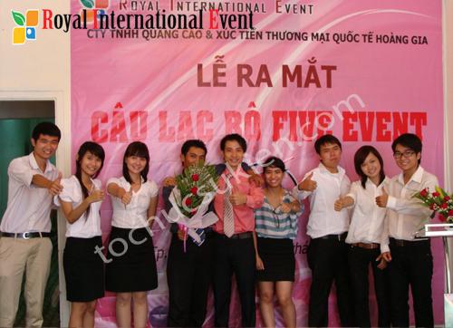 Tổ chức sự kiện Lễ ra mắt Câu lạc bộ Five Event Club