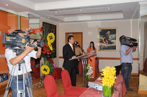 Tổ chức họp báo ra mắt dịch vụ mới cho Tập đoàn GfK Việt Nam tạikhách sạn Caravelle 10