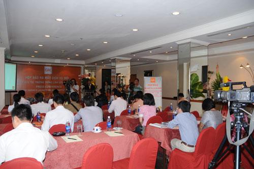 Tổ chức họp báo ra mắt dịch vụ mới cho Tập đoàn  GfK Việt Nam tại khách sạn Caravelle 1
