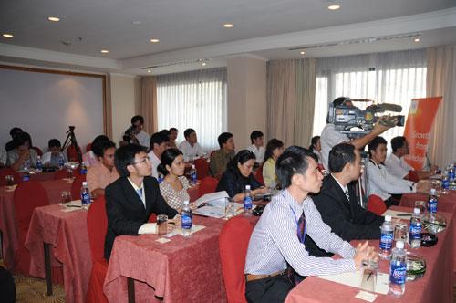 Tổ chức họp báo ra mắt dịch vụ mới cho Tập đoàn GfK Việt Nam tạikhách sạn Caravelle 13