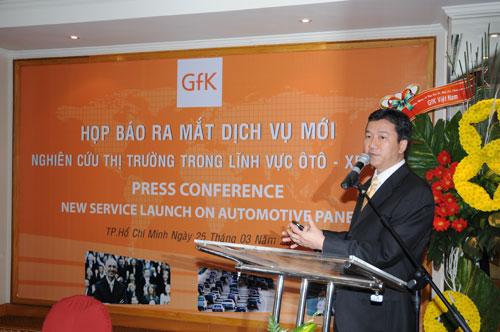 Tổ chức họp báo ra mắt dịch vụ mới cho Tập đoàn GfK Việt Nam tạikhách sạn Caravelle 14
