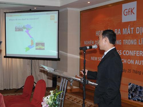 Tổ chức họp báo ra mắt dịch vụ mới cho Tập đoàn GfK Việt Nam tạikhách sạn Caravelle 16