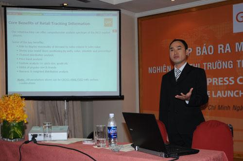 Tổ chức họp báo ra mắt dịch vụ mới cho Tập đoàn GfK Việt Nam tạikhách sạn Caravelle 17