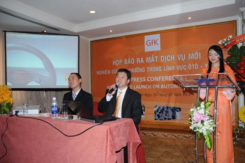 Tổ chức họp báo ra mắt dịch vụ mới cho Tập đoàn GfK Việt Nam tạikhách sạn Caravelle 19