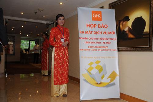 Tổ chức họp báo ra mắt dịch vụ mới cho Tập đoàn GfK Việt Nam tạikhách sạn Caravelle 2