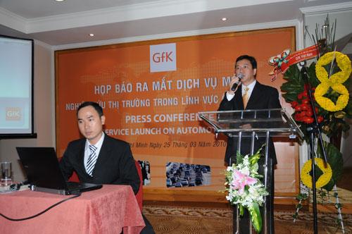 Tổ chức họp báo ra mắt dịch vụ mới cho Tập đoàn GfK Việt Nam tạikhách sạn Caravelle 23
