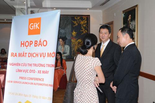 Tổ chức họp báo ra mắt dịch vụ mới cho Tập đoàn GfK Việt Nam tạikhách sạn Caravelle 4