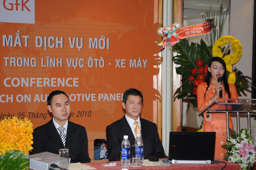Tổ chức họp báo ra mắt dịch vụ mới cho Tập đoàn GfK Việt Nam tạikhách sạn Caravelle 6