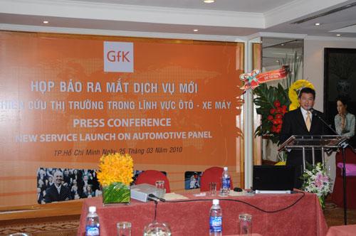 Tổ chức họp báo ra mắt dịch vụ mới cho Tập đoàn GfK Việt Nam tạikhách sạn Caravelle 7