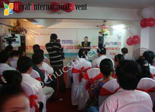 Tổ chức sự kiện Khai trương Công ty Hoa Thị - Trung Tâm Chăm Sóc Và Điều Trị Da