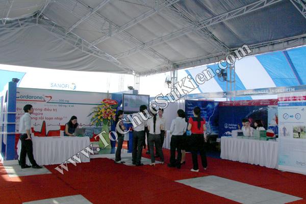 Tổ chức sự kiện - Cung cấp thiết bị - Thi công gian hàng trưng bày sản phẩm tại Bệnh viện Tim Tâm Đức 5